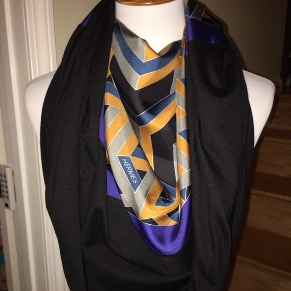 Hermes Accessories   Nwt Carr Cube Silk Cashmere Scarf Soie   Poshmark 9a79c3c222f